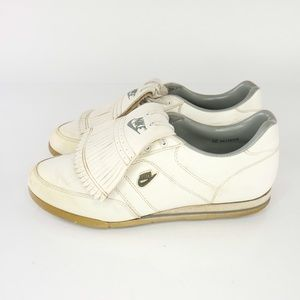 Vintage 80s Nike Air Golf Shoes Size 12 Mens White